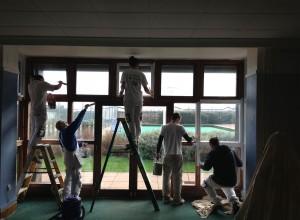 Team work painting